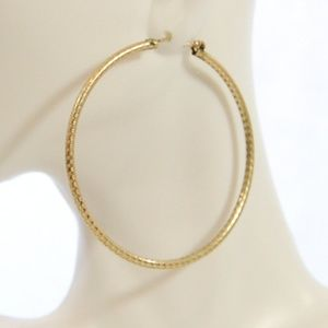 Jewelry - Gold Textured Hinged Hoops